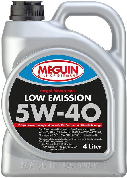 """Масло моторное """"Megol Low Emission"""" 5W-40 (4 л) — фото, картинка"""