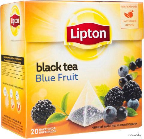 """Чай черный """"Lipton. Blue Fruit Tea"""" (20 пакетиков) — фото, картинка"""