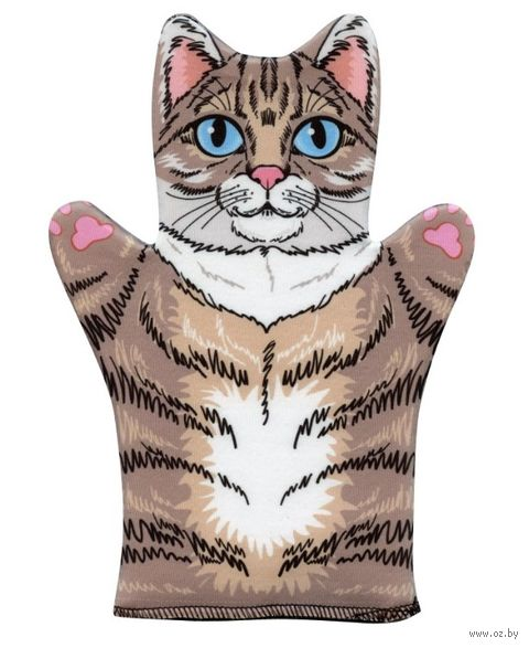 "Мягкая игрушка на руку ""Кот"" (32 см) — фото, картинка"