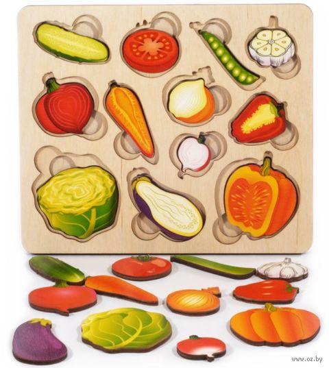 """Рамка-вкладыш """"Часть и целое. Овощи"""" (арт. 8017) — фото, картинка"""