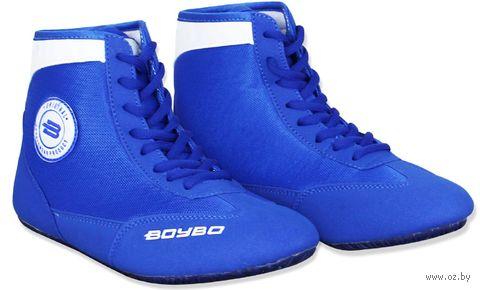 Обувь для борьбы (р. 33; сине-белая) — фото, картинка