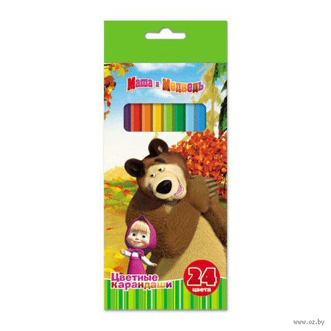 """Набор карандашей цветных """"Маша и Медведь"""" (24 цвета)"""