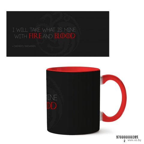 """Кружка """"Игра престолов. Fire and Blood"""" (красная) — фото, картинка"""