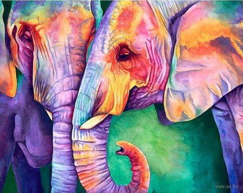 """Алмазная вышивка-мозаика """"Мудрость слонов"""" (500x400 мм) — фото, картинка"""