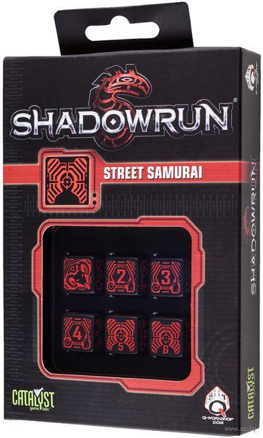 "Набор кубиков ""Shadowrun Street Samurai"" (6 шт.; красный) — фото, картинка"