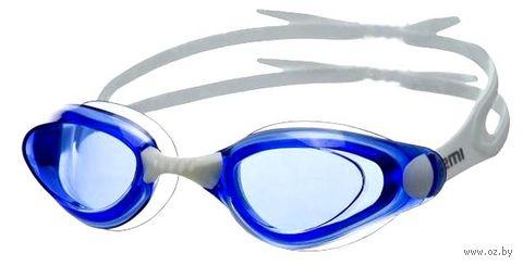 Очки для плавания (бело-синие; арт. B401) — фото, картинка