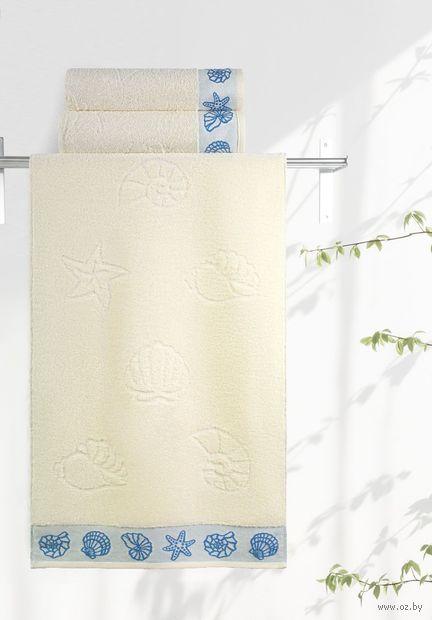 """Полотенце махровое """"Ракушки"""" (50х90 см; ваниль) — фото, картинка"""