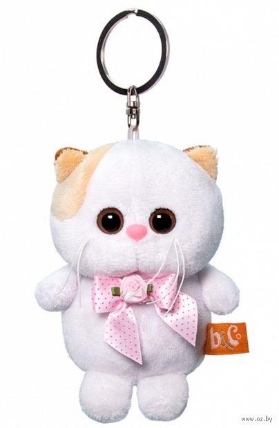 """Мягкая игрушка-брелок """"Кошечка Ли-Ли с розовым бантиком"""" (12 см) — фото, картинка"""