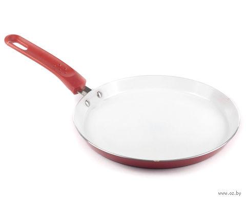 """Сковорода-блинница алюминиевая с керамическим покрытием """"Red Culinaria"""" (24*2 см, арт. 40HTXJPD24RE-A)"""