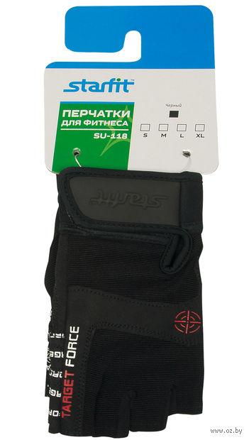 Перчатки для фитнеса SU-118 (XL; чёрные) — фото, картинка