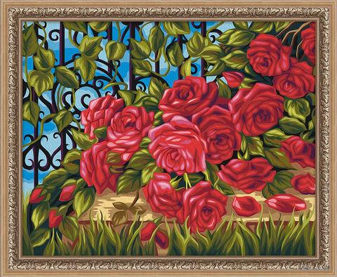 """Картина по номерам """"Старинная изгородь"""" (400х500 мм) — фото, картинка"""