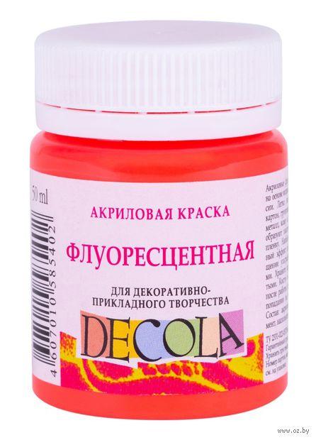"""Краска акриловая """"Decola. Neon"""" (красная светлая; 50 мл) — фото, картинка"""