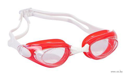 Очки для плавания (бело-красные; арт. B402) — фото, картинка