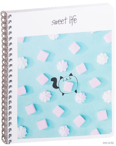 """Тетрадь полуобщая в клетку """"Sweet Life"""" (48 листов) — фото, картинка"""