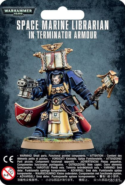 Warhammer 40.000. Space Marines. Librarian in Terminator Armour (48-72) — фото, картинка