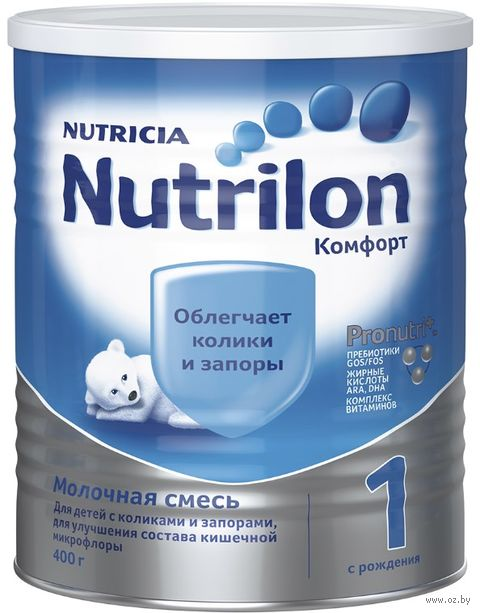 """Сухая молочная смесь Nutrilon """"Комфорт 1"""" (400 г) — фото, картинка"""