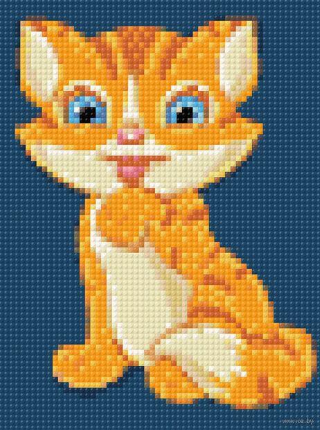 "Алмазная вышивка-мозаика ""Котик"" (150х200 мм) — фото, картинка"