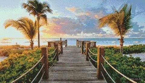 "Алмазная вышивка-мозаика ""Дорога к океану"" (700х400 мм) — фото, картинка"