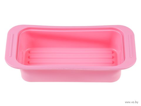 Форма для выпекания силиконовая (250х135х50 мм; розовая) — фото, картинка