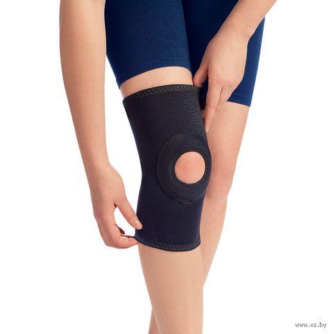 """Бандаж коленный рукавного типа """"0804"""" (чёрный; размер 4) — фото, картинка"""