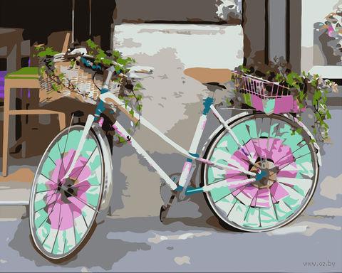 "Картина по номерам ""Велосипед для дамы"" (400x500 мм) — фото, картинка"