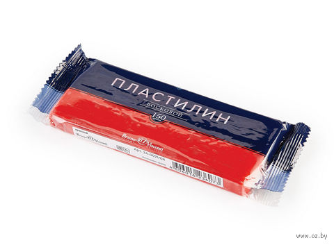 Пластилин восковой (150 г; красный) — фото, картинка