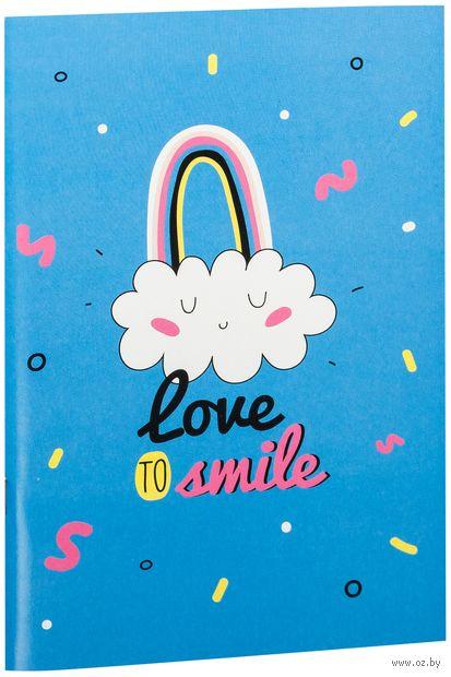 """Блокнот """"Love to smile"""" (А5) — фото, картинка"""