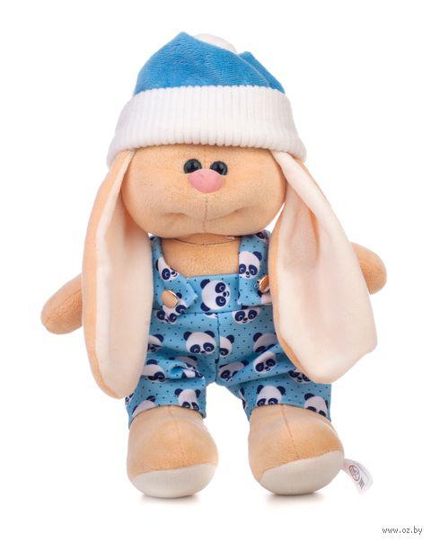 "Мягкая игрушка ""Заяц Саша. В комбинезоне"" (28 см) — фото, картинка"