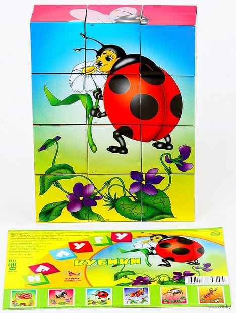 """Кубики """"На лугу"""" (12 шт.) — фото, картинка"""