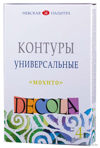 """Набор контуров """"Decola. Мохито"""" (4 цвета) — фото, картинка"""