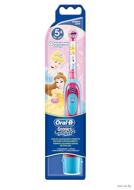 """Детская электрическая зубная щетка Oral-B """"Stages Power"""" на батарейках — фото, картинка"""