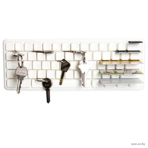 """Держатель ключей и мелких предметов """"Key Board"""" (белый)"""