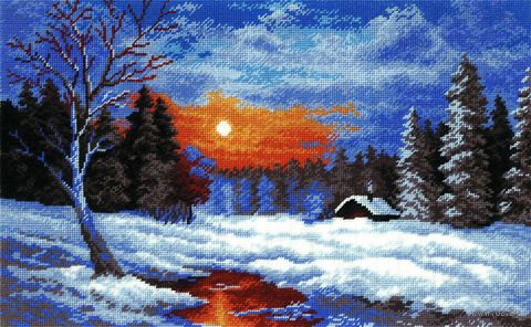 "Вышивка крестом ""Зима"" (арт. 643)"