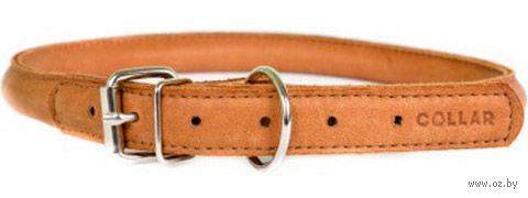 """Ошейник из натуральной кожи """"Collar Soft"""" (45-53 см; коричневый) — фото, картинка"""
