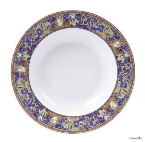 "Тарелка фарфоровая ""Ван Гог. Ирисы"" (216 мм) — фото, картинка"