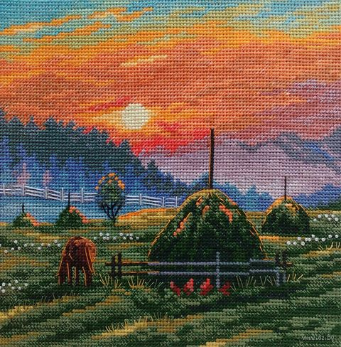 "Вышивка крестом ""Летние туманы"" (170х170 мм) — фото, картинка"