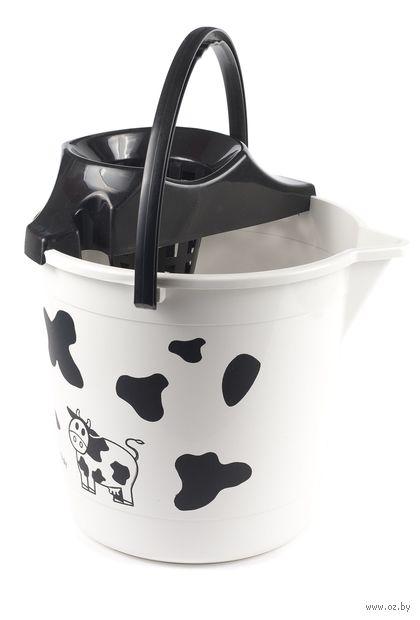Ведро для мытья полов с отжимной решеткой (10 л)