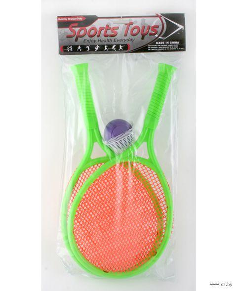 Набор для игры в теннис и бадминтон (2 ракетки, воланчик, мяч)
