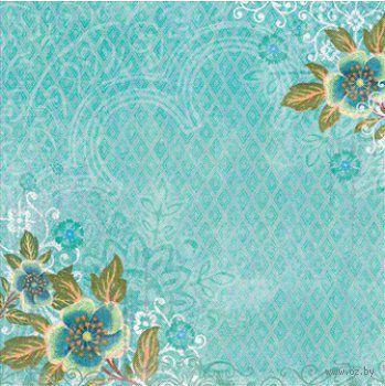 "Бумага для скрапбукинга ""Абрианна. Голубые цветы"" (310х310 мм; 25 листов)"