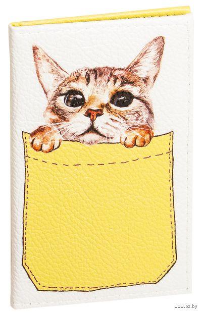 """Обложка на паспорт """"Котик в кармане"""" — фото, картинка"""