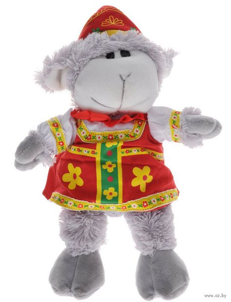 """Мягкая игрушка """"Овечка в платье"""" (17 см)"""