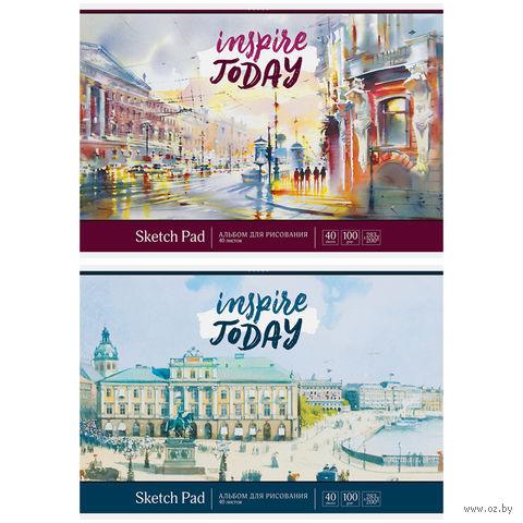"""Альбом для рисования А4 """"Акварель. Город"""" (40 листов)"""