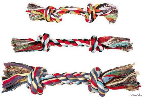 """Игрушка для собак """"Веревка с двумя узлами"""" (20 см) — фото, картинка"""