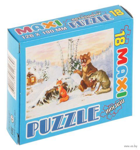 "Пазл maxi ""Волк, медведь и лиса"" (18 элементов) — фото, картинка"