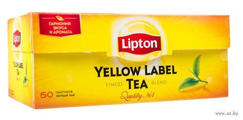 """Чай черный """"Lipton. Yellow Label"""" (50 пакетиков) — фото, картинка"""