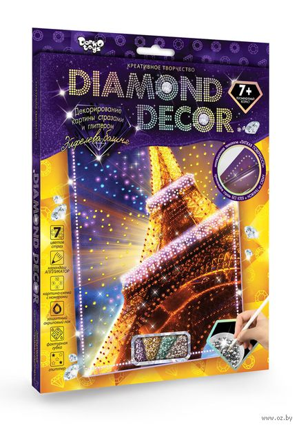 "Аппликация из страз ""Diamond decor. Эйфелева башня"" — фото, картинка"