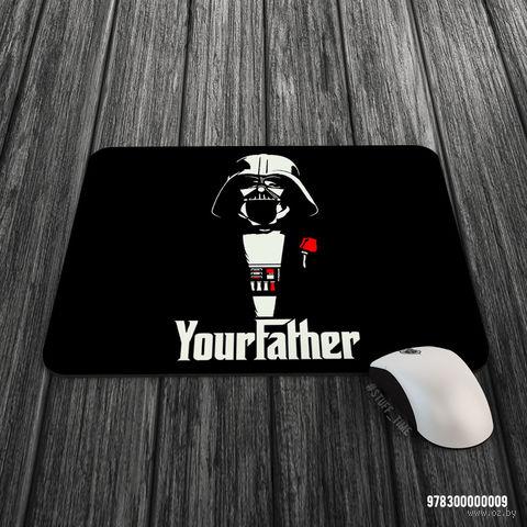 """Коврик для мыши большой """"Дарт Вейдер. Крестный отец"""" (арт. 009)"""