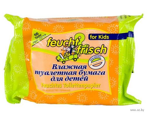 Влажная детская туалетная бумага (60 шт)