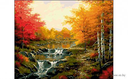 "Картина по номерам ""Осенний водопад"" (400x500 мм) — фото, картинка"