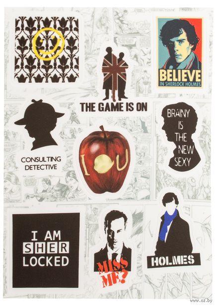 "Набор виниловых наклеек №208 ""Sherlock Holmes"" — фото, картинка"
